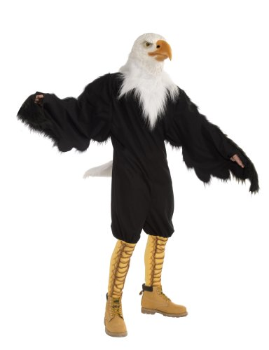 Forum Novelties Men's American Eagle Plush Mascot Costume and Latex Mask, Multi Colored, One (4th Of July Costumes)