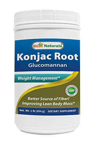 Best Naturals Glucomannan Weight Loss Pure Powder from Konjac Root, 1 Pound – 100% Natural Weight Loss Diet Powder That Really Work Fast – Best Appetite Suppressant – Boosts Metabolism