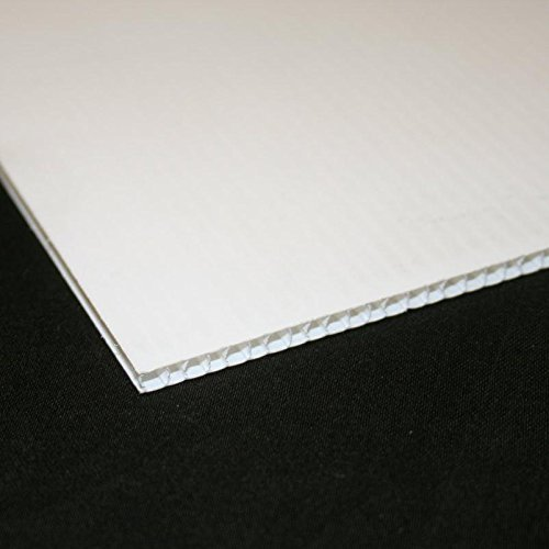 20 X A4 Sheets of White Correx Plastic Fluted Sheet Display Board FOAMBOARD WAREHOUSE