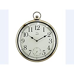 XIE Retro-style living room wall clock modern electronic clock Pocket Watch wall clock , electroplating arabia , 14 inches