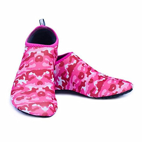 Camouflage Barefoot Swimming Diving Shoes Unisex Water Beach Socks Pink Horpshop Snorkeling 1nAZxFT