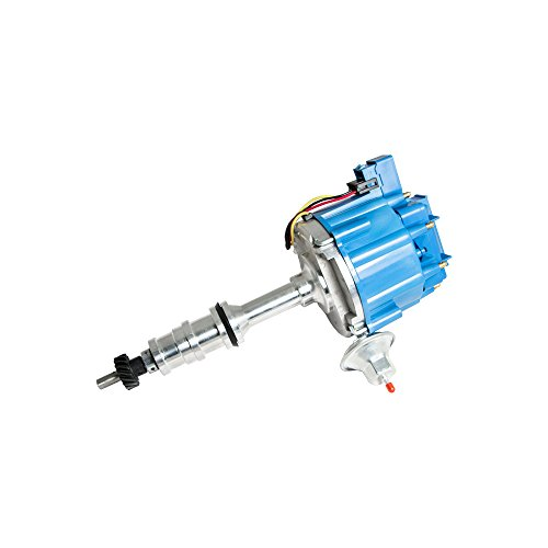 Vacuum Advance Unit - Top Street Performance JM6508BL HEI Distributor with Blue Cap (Vacuum Advance)