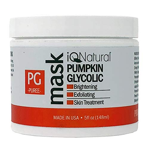 - iQ Natural 5oz Pumpkin Glycolic Mask, Cleans & Exfoliates Skin, Spa Quality Facial Peel with AHA Enzyme.