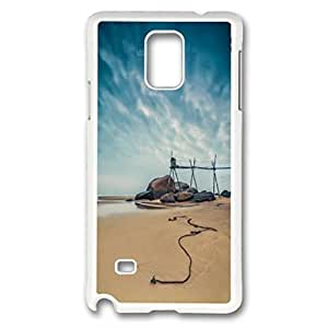 iCustomonline Beautiful Beach Case for Samsung Galaxy Note 4 Hard PC Material