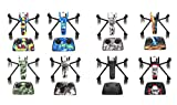 Rantow 8 Set Shell Decoration Sticker Decals fit Parrot ANAFI Drone Waterproof DIY Skin Drone Body Sticker with Free Tool
