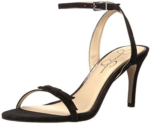 Jessica Simpson Women's PURELLA Heeled Sandal, Black, 8 Medium US (Toe Heels Jessica Open)
