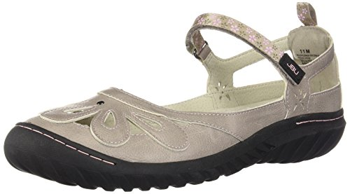 Womens Cement (JBU by Jambu Women's Wildflower Encore Mary Jane Flat, Cement, 7 M US)