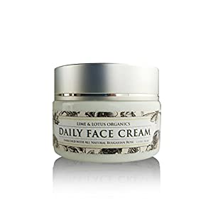 Luxurious Daily Face Cream in Glass Jar – Made With 100% All Natural Ingredients –No Synthetic Chemicals – Deep Hydrating Moisturizer Helps Reduce Lines, & Wrinkles
