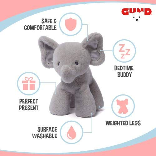 (GUND Baby Bubbles Elephant Stuffed Animal Plush, Gray, 10
