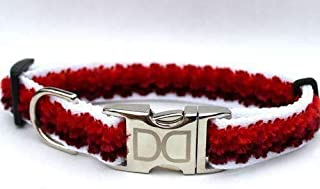 product image for Diva-Dog Cabo Custom Engraved Dog Collar in Sunset Red (Optional Matching Leash Available) XL