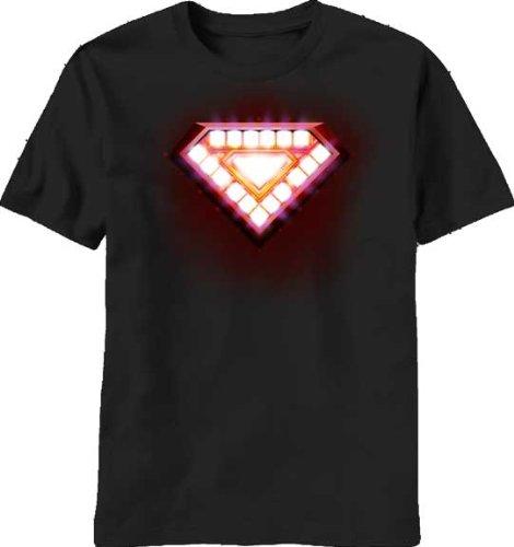 Marvel Comics Iron Man Classic Core Arc Reactor T-shirt (Black, Medium) (Iron Man Glow Arc Reactor)