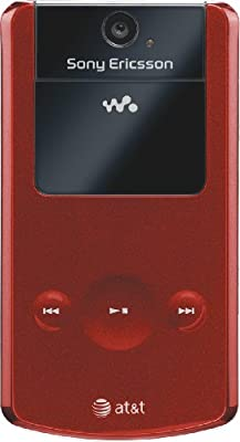 Sony Ericsson W518a Phone, Red (AT&T)
