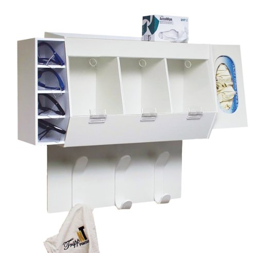 TrippNT 50193 PVC Lab Entry Changing Station, 18'' Width x 20'' Height x 7'' Depth, White by TrippNT