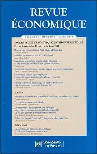 Lire en ligne Revue économique, Volume 64, N°4, juil : epub, pdf