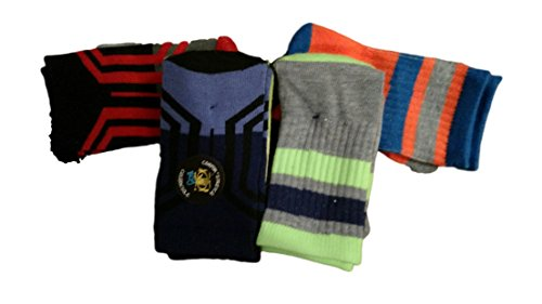 Body Glove Boy Crew Bright Color Block Graphic 4 Pack Socks Size - Kids Crew Glove