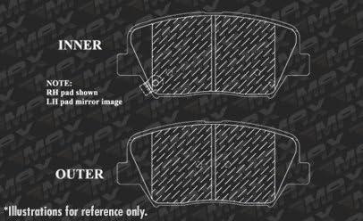 Max Brakes Front /& Rear Performance Brake Kit Premium Slotted Drilled Rotors + Ceramic Pads KT083533 Fits: 2010 10 2011 11 2012 12 Hyundai Santa Fe