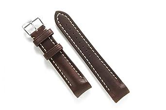 FORTIS Lederband 24 mm inkl. Stahlschließe fÜr B-47 Calculator & andere