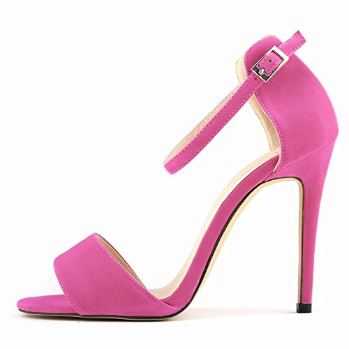 Heel in heeled New toe Sexy Sandals peep Pink Sandals 35 leisure summer Stiletto R Female SODIAL High contracted 68x7dq6I