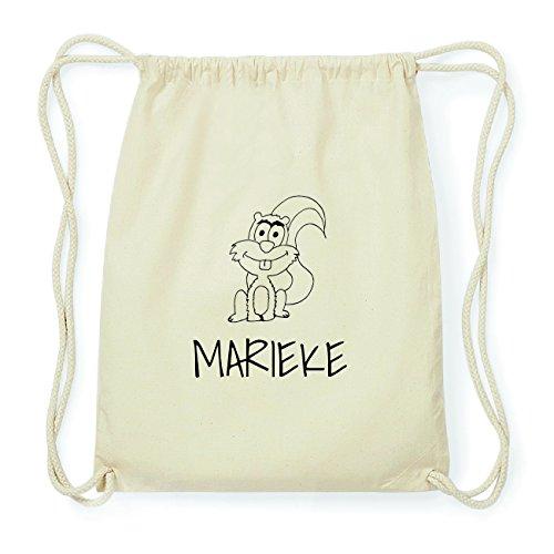 JOllipets MARIEKE Hipster Turnbeutel Tasche Rucksack aus Baumwolle Design: Eichhörnchen