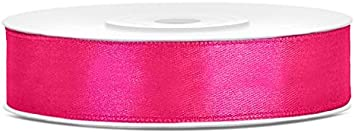 SiDeSo/® Satinband 25m x 12mm viele Farben Hochzeit Dekoband Geschenkband Antennenband Schleifenband Apfel gr/ün