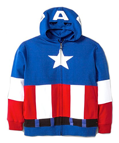 Boys' Marvel Comics Avengers Captain America Fleece Hooded Sweater Hoodie (Small 6/7)