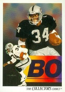 Bo Jackson Football Card (Los Angeles Raiders) 1991 Upper Deck #93 1991 Upper Deck Football Card