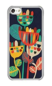 linJUN FENGApple Iphone 5C Case,WENJORS Awesome Wild Flowers I Hard Case Protective Shell Cell Phone Cover For Apple Iphone 5C - PC Transparent