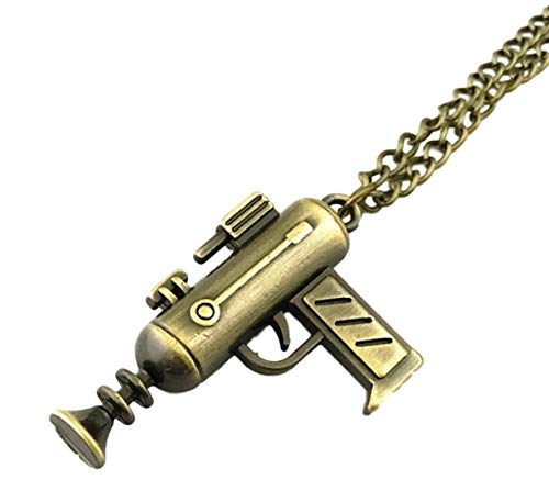 RM Portal Cosplay 3D Metal Gun Cosplay Pendant Necklace