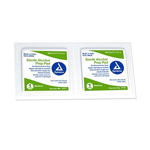 Dynarex Alcohol Prep Pad, Medium, Sterile, 2,000 Count (Package May (Dynarex Alcohol Prep Pads)