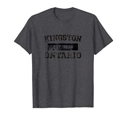 Kingston Ontario Canada Est. 1838 T Shirt Black Lettering ()