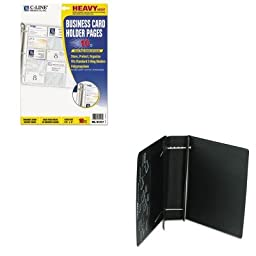 KITCLI61217LEO61601 - Value Kit - Charles Leonard Varicap6 Expandable 1 To 6 Post Binder (LEO61601) and C-line Business Card Binder Pages (CLI61217)
