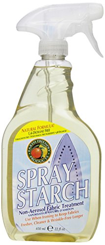 Earth Friendly Products Natural Spray Starch, Non-Aerosol, 22-Ounce Bottles