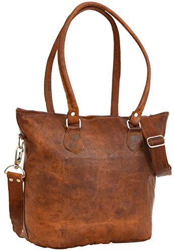 Sac à bandoulière Gusti Leder Nature H14 Vintage Ipad Marron Kindle Shopper 26x26x10 Cm (lxaxp)