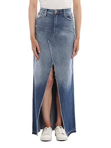 Coton Jupe JBrand Bleu JB000535J45506 Femme qnRwF4H