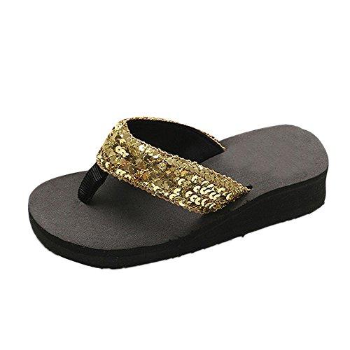 Sandali 2018 Flip Beach Paillettes Scivolo Outdoor con Anti Indoor per Pantofola Summer Oro amp; Flip Kword Donne Sandali Flop Flop Donna Eq7wxgrE