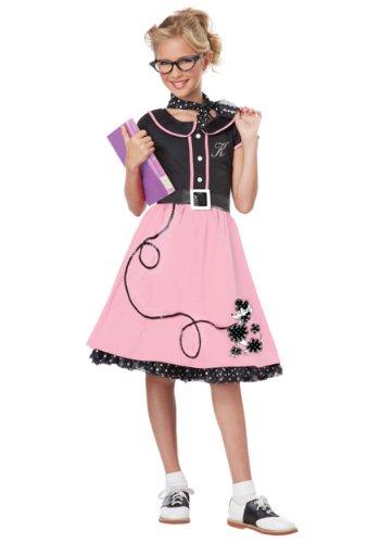 Grand Slam Costumes (Big Girls' Pink 50's Sweetheart Costume - 2XL)
