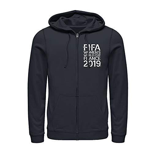 Fifth Sun FIFA Women's World Cup France 2019 Men's Tournament Text Badge Navy Blue Zip Up Hoodie