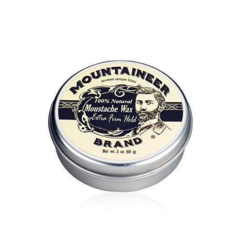 Mustache Wax by Mountaineer Brand (2oz) | All-Natural Beeswax and Plant-Based Oils for Moustache | No Petroleum Chemicals (Extra Firm Unscented)