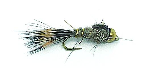 (Gold Bead Head Hares Ear Fly Fishing Flies. 1 Dozen Flies (18))