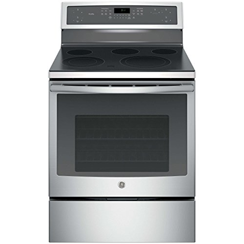 GE Profile Series 5.3 Cu. Ft. Self-Cleaning Freestanding Electric Convection Range Stainless Steel PB911SJSS
