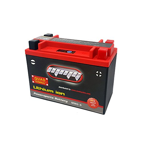Lithium Ion Sealed Battery 12V 420 LCA Quad Terminal - Replacement for YTX20L-BS, YTX20H-BS, YTX20HL-BS, YTX24HL-BS, and YB16CL-B (MMG6)