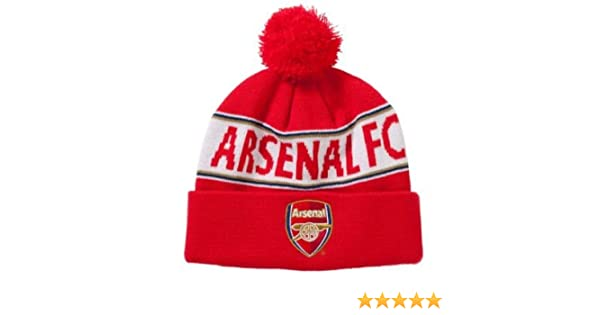1d597fef03e Amazon.com   Arsenal FC Bobble Ski Hat   Sports Fan Beanies   Sports    Outdoors