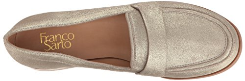 Franco Sarto Damen Valera Slip-On Loafer Platino Wildleder
