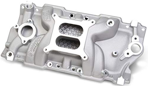 NEW WEIAND SPEED WARRIOR INTAKE MANIFOLD, FITS CHEVY SMALL BLOCK V8, NON/EGR 262-400CI, 1987 & LATER WITH CAST IRON CYLINDER HEADS, NON-VORTEC, -