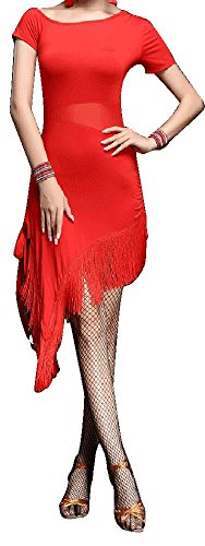 Whitewed See Through Split Leg Latin Salsa Jive Dance Sport Costumes Dresses