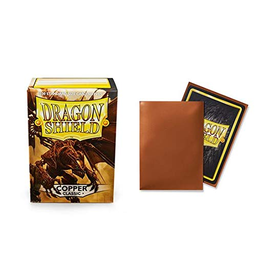 (Dragon Shield Classic Copper Standard Size 100 ct Card Sleeves Individual Pack)