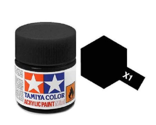 Tamiya Models X-1 Mini Acrylic Paint, Black
