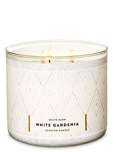 (Bath and Body Works White Barn 3 Wick Scented Candle in White Gardenia 14.5 Ounce Full Size)