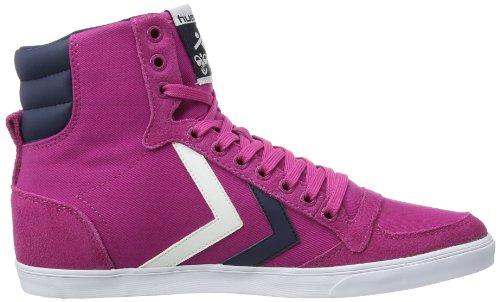 hummel HUMMEL SLIMMER STADIL HIGH - Zapatillas de lona para mujer rosa - Pink (RASPBERRY/BLACK)