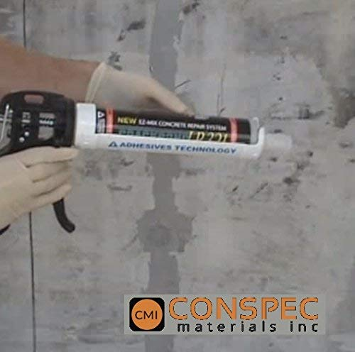 Conspec - Concrete Crack Repair Kit, Basement, Floor, Wall, Foundation, Pools, Easy to use''Crack KIT'' Epoxy Patch and Weld Concrete by Crack Kit 6-Tubes (Image #3)